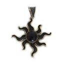 """Sterling Silver w/ Amethyst and Brass """"Sun"""" Pendant (ANG-PN-103) Compass"""