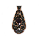 "Sterling Silver w/ Amethyst and Copper ""Saddle"" Pendant (VIC-PN-105) Round"