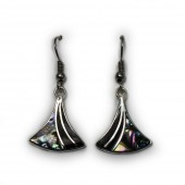 HPSilver : Silver Plated Abalone Earrings