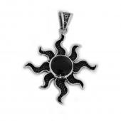 "HPSilver, LLC : Sterling Silver w/ Amethyst ""Sun"" Pendant (ANG-PN-101) Compass"