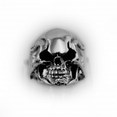 HPSilver, LLC : Sterling Silver Skull Ring cha-rg-105