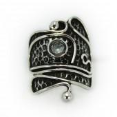 "HPSilver: Aquamarine w/ Sterling Silver ""Palette"" Ring (elf-rg-022)"
