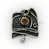 "HPSilver: Citrine w/ Sterling Silver ""Palette"" Ring (elf-rg-024)"