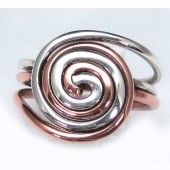HPSilver: Sterling Silver w/ Copper Wire Ring (fel-rg-0001)