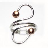 HPSilver: Sterling Silver w/ Copper Wire Ring (fel-rg-0015)
