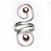 HPSilver: Sterling Silver w/ Copper Wire Ring (fel-rg-0018)