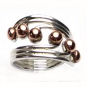 HPSilver: Sterling Silver w/ Copper Wire Ring (fel-rg-0021)