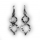 HPSilver, LLC : Silver Plated, Hand Hammered Earrings lor-er-041