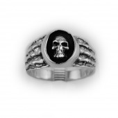 HPSilver, LLC : Sterling Silver Skull Ring cha-rg-101