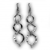HPSilver, LLC : Silver Plated, Hand Hammered Earrings lor-er-042