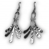 HPSilver, LLC : Silver Plated, Hand Hammered Earrings lor-er-044