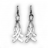 HPSilver, LLC : Silver Plated, Hand Hammered Earrings lor-er-047