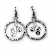 HPSilver, LLC : Silver Plated, Hand Hammered Earrings lor-er-049