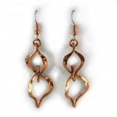 HPSilver: Hammered Copper Earrings (lor-er-001)