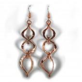 HPSilver: Hammered Copper Earrings (lor-er-002)