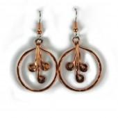 HPSilver: Hammered Copper Earrings (lor-er-004)