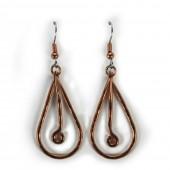 HPSilver: Hammered Copper Earrings (lor-er-005)