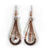 HPSilver: Hammered Copper Earrings (lor-er-006)