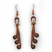 HPSilver: Hammered Copper Earrings (lor-er-007)