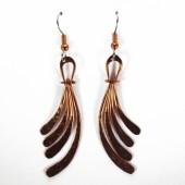 HPSilver: Hammered Copper Earrings (lor-er-008)