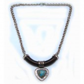 Turquoise w/ Mesquite  Necklace (RAF-NC-001)