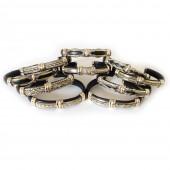 HPSilver, LLC : Unique Leather Bracelet ULB500 10 Pack
