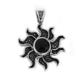 "HPSilver, LLC : Sterling Silver w/ Amethyst ""Sun"" Pendant (ANG-PN-104) Flower"