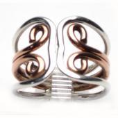 HPSilver: Sterling Silver w/ Copper Wire Ring (fel-rg-0016)