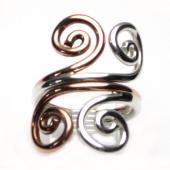 HPSilver: Sterling Silver w/ Copper Wire Ring (fel-rg-0020)