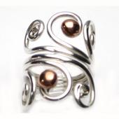 HPSilver: Sterling Silver w/ Copper Wire Ring (fel-rg-0022)