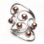 HPSilver: Sterling Silver w/ Copper Wire Ring (fel-rg-0024)